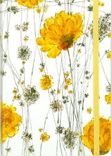 Journal Elegant Gold Accents Floral Flowery Luxurious Notepad Notebook 7-inch