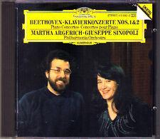 Marhta ARGERICH & Giuseppe SINOPOLI: BEETHOVEN Piano Concerto No.1 & 2 DG CD '86