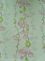 Sanderson Curtain Fabric OLIDA 0.65m Cotton Floral Design Oyster Pink/Multi 65cm