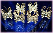 6 Crochets épingles pics cheveux dorés cristal diadème