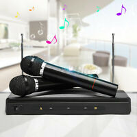 2X Handheld Wireless Microphone Mic System Speaker Karaoke DJ KTV Singing Party