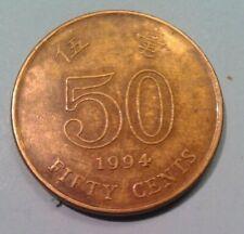 Hong Kong 50 Cents coin 1994