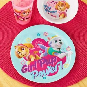 Paw Patrol Kids Meal Set - Plate, Bowl, Cup Pink Girl Power
