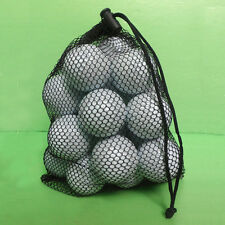 15 Ball Nylon Mesh Nets Bag Pouch Golf Tennis Carrying Holder Storage Durable