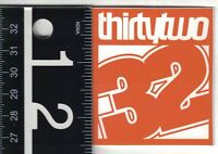 THIRTYTWO 11 IN X 8.5 IN SNOWBOARDING DECAL Thirtytwo Orange//Grey//Black//White