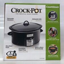 Crockpot SCCPVC400BI Countdown 4 Quart Slow Cooker Kitchen Appliance (ROC021489)