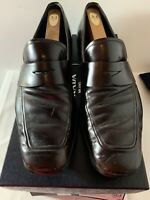 Moccasin PRADA Luxury Pre-owned  Shoes Burnt 2dc061 Size 10
