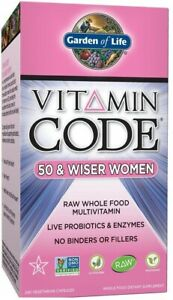 GARDEN OF LIFE Vitamin Code 50 and Wiser Women (RAW Whole Food) 120 / 240 VCap