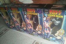 KISS LOVE GUN SINGING FIGUREN / FIGURES SET OF 4 GENE PAUL ACE PETER USA IMPORT