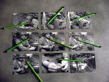 CES   15 PHOTOS 1944  50 MANCHE EMPLOI DES MESSAGERS PIGEONS VOYAGEURS REPRO )