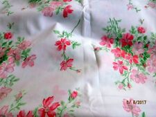 DAN RIVER TRANQUAL VINTAGE NEW PINK FLORAL DOUBLE FLAT SHEETS (2)