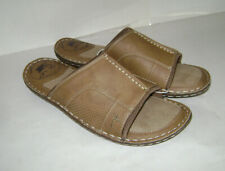 NEW MARGARITAVILLE MEN MEN'S SLIDE LEATHER SLIDES SHOES SIZE 9 CHESTNUT