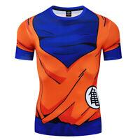 Men Dragon Ball Goku 3D Printed Cosplay Compression Gym Workout Fitness T-Shirt