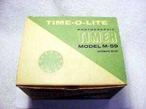 TIME-O-LITE Industrial Darkroom Timer   Model M-59   New   NOS   $119  