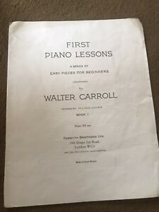 Vintage Sheet Music, First Piano Lessons
