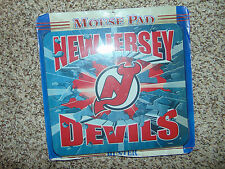 NHL New Jersey Devils NJ Hockey Vintage Team Logo Mousepad Mouse Pad Red NEW