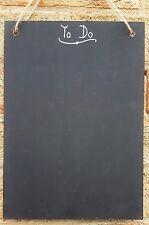 Shabby Chic To Do Planner A4 Chalkboard 30cm x 21cm Memo Board, Blackboard