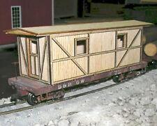 CABOOSE FOR BACHMANN FLAT CAR Model Railroad On30 Unptd Laser Wood Kit DF339