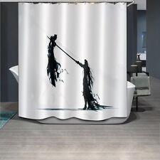 "72x72""Anime Sword Man Bathroom Polyester Fabric Waterproof Shower Curtain 12Hook"