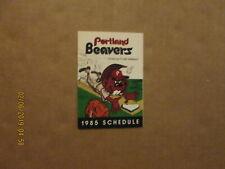 Portland Beavers Vintage Cicra 1985 Team Logo Baseball Pocket Schedule
