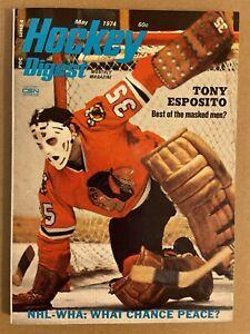 1974 Hockey Digest CHICAGO BLACK HAWKS TONY ESPOSITO No Label NEWSSTAND The Best