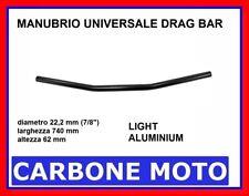 "MANUBRIO DRAG BAR ORO SATINATO 22 mm (7/8"") CUSTOM CAFE RACER BOBBER STREET"