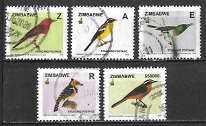 Zimbabwe #976-985 Used Short Set 2005 Bird Definitive Series $47.50 SCV