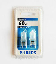 Philips Essential Plus 60w Frosted Halogen Capsule Globe 2pk