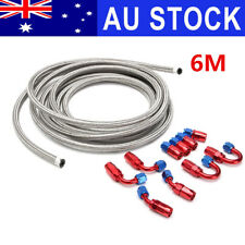 AU AN6 6AN 6M Stainless Steel Braided Oil Fuel Line +Fitting Hose End Adapter R
