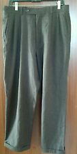 Today's Man Pleated Cuffed Rustic Brown, 98% Wool Dress Pants (33x28)