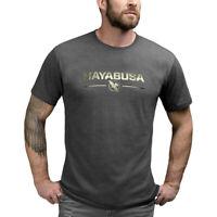 Hayabusa Metallic Logo MMA T-Shirt BJJ Muay Thai Martial Arts Top Mens Tshirt