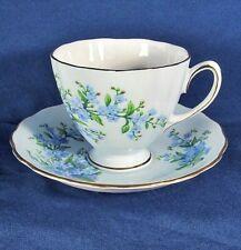 Vintage Pale Blue Colclough China,Footed Teacup & Saucer Set Excl Condition