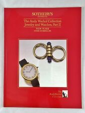 Sotheby's Andy Warhol jewelry Watches - Auktion auction catalogue Uhren Schmuck