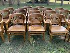 Vintage 1960s Mission Solid Hard Wood Banker/Office Arm Chair Gunlocke