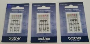 Brother Sewing Machine 5 Needles 3 Sizes (75/11, 90/14, 100/16) Lot of 3