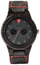 WeWood Wooden Watch - Leo Terra Black (Leather) (wwood825LTB)
