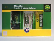 LIONEL JOHN DEERE BILLBOARD SET o gauge train tractor farm machinery 6-81621 NEW