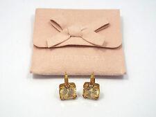 Judith Ripka 18K Yellow Gold Canary Yellow Crystal & Diamond LOLA Earrings
