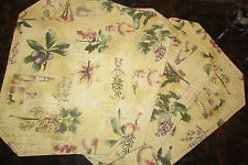 PLACEMATS, 4 reversible oil & herb theme 17.75 x 13""