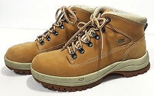 SKECHERS Specialist Leather Boots Womens 9 Tan Nubuck Fashion Work Shoes 45294