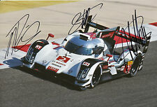 Lotterer, Treluyer, Fässler Audi Joest Hand Signed Photo 12x8 Le Mans 7.