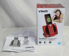 VTech Handset Cordless Phone Digital Answering System ID Waiting Home Office RED