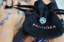 Pandora Radiant Hearts Charm, Sky Blue, Original, New, #791725NBS