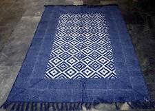 Turkish Kilim Rug,Vintage Rug,Moroccan Carpet,Anatolia Rug Indigo Blue Area Rugs