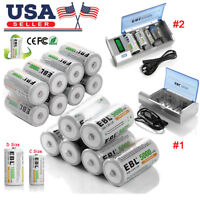 EBL C D Size 5000mAh/10000mAh Rechargeable Batteries / AA AAA 9V Battery Charger