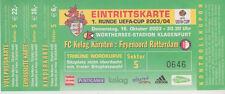 Sammler Used Ticket / Entrada FC Kelag Karnten v Feyenoord 16-10-2003 UEFA