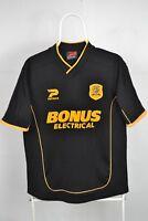 HULL CITY ENGLAND 2003 2004 AWAY FOOTBALL SHIRT JERSEY MAGLIA PATRICK Sz S-M