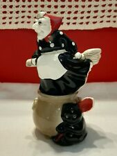Halloween Vintage Fitz & Floyd Witch & Cauldron Stackable Salt & Pepper Shakers
