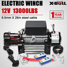 X-BULL 12V 13000LBS Electric Winch Towing Truck Trailer Steel Cable Off Road 4WD