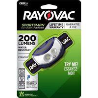 Rayovac Sportsman 200 Lumens Multicolored LED HeadLamp AAA Battery